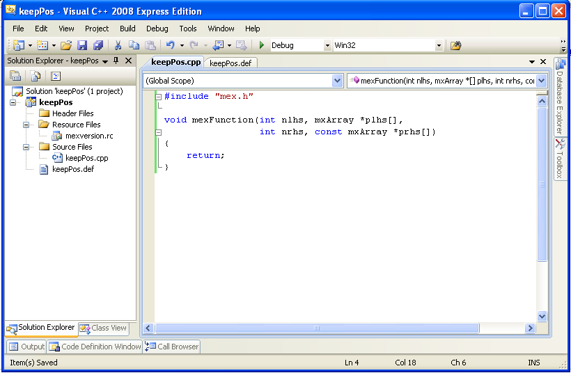 Using C/C++ under Matlab (Part 2) - COMISEF Wiki
